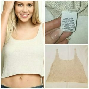 Brandy Melville Knit Crop Tank Top One Size